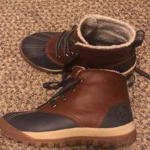 Timberland snow boots.
